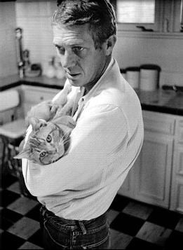Steve Mcqueen And His Cat