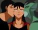 Superboy and Lagoon Boy kissing Supergirl - young-justice-ocs icon