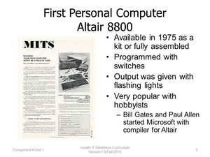 The Altair 8800 Personal Computer