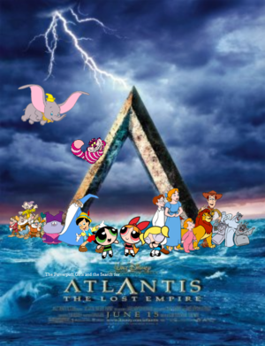 The Powerpuff Girls and the cerca for Atlantis: The Lost Empire