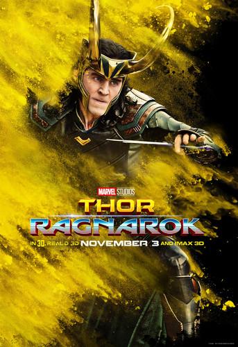 Thor: Ragnarok fondo de pantalla entitled Thor: Ragnarok - Character Poster - Loki