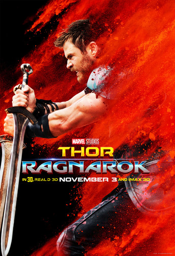 Thor: Ragnarok দেওয়ালপত্র titled Thor: Ragnarok - Character Poster - Thor