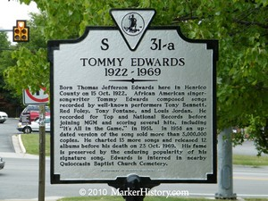 Tommy Edwards Memorial Plaque