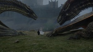 Tyrion, Daenerys and dragones 7x06 - Beyond the muro