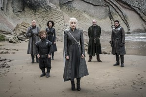 Tyrion, Varys, Missendei, Davos, Jon and Daenerys 7x04 - The Spoils of War