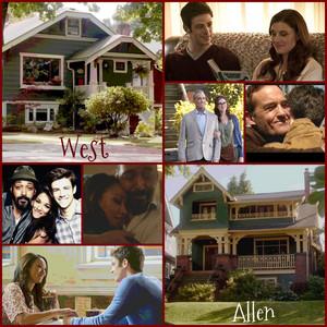 West 집 vs Allen 집