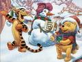 Winnie the Pooh Christmas christmas 2735471 1024 768 - winnie-the-pooh wallpaper