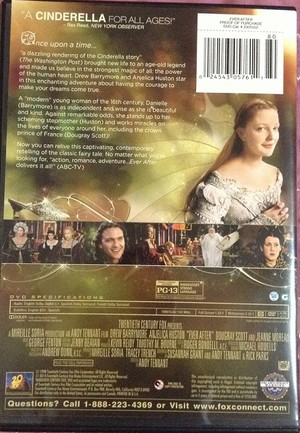 back of Ever After DVD cover