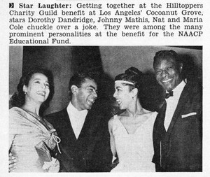 "Clipping Pertaining To Nat ""King"" Cole"