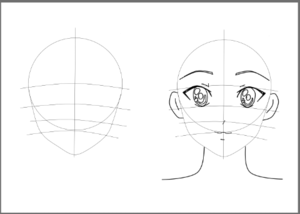 draw Anime face
