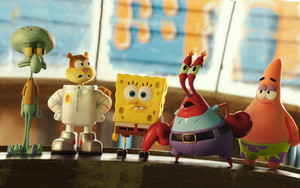 Spongebob and his friends