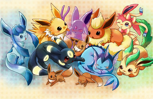 eevee evolutions oleh michellescribbles d7tf6dm