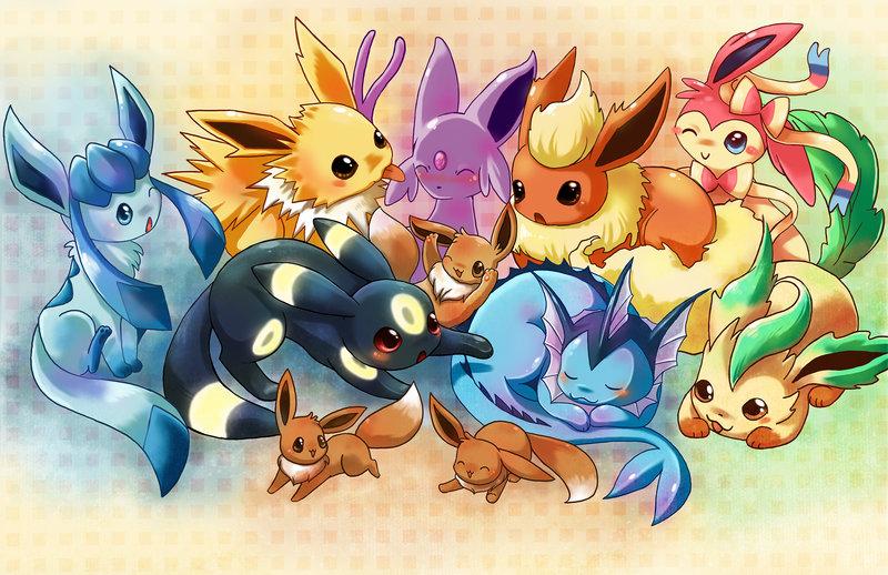 Cutest Pokemon Images Eevee Evolutions By Michellescribbles D7tf6dm