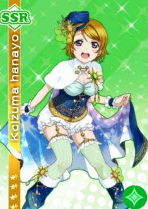 l'amour live card design hanayo