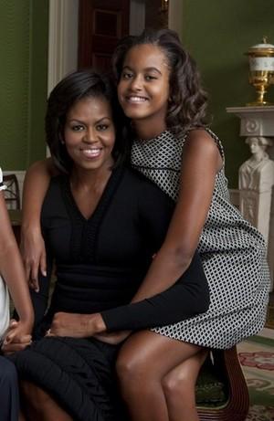 Michelle And Daughter, Malia