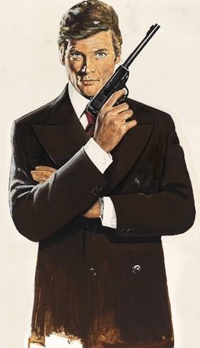 James Bond fondo de pantalla called Sir Roger Moore As 007