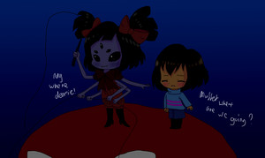 undertale frisk and muffet