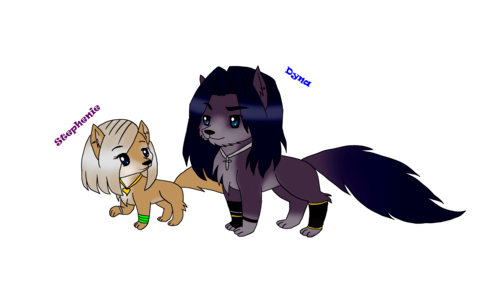 Alpha und Omega Hintergrund titled wolf version of characters