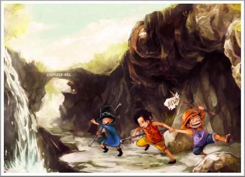 Monkey D. Luffy fond d'écran called *Ace Sabo Luffy*
