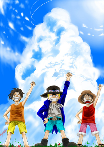 Monkey D Luffy Wallpaper Called Ace Sabo