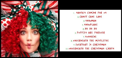 Sia fond d'écran titled 'Everyday Is Christmas,' cover + tracklist