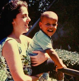 Young Barack And His Mother