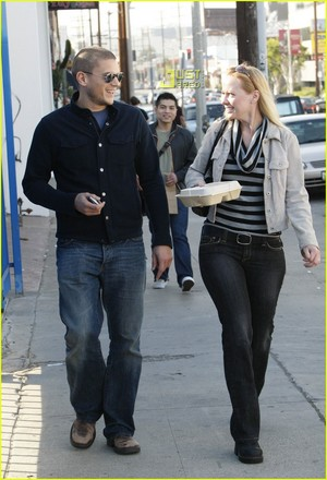 13 JANUARY 2008 Wentworth Miller With Amie Bice
