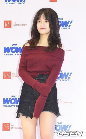 171012 AOA's Jimin @ FNC WOW! Celebrity Космос Opening Party