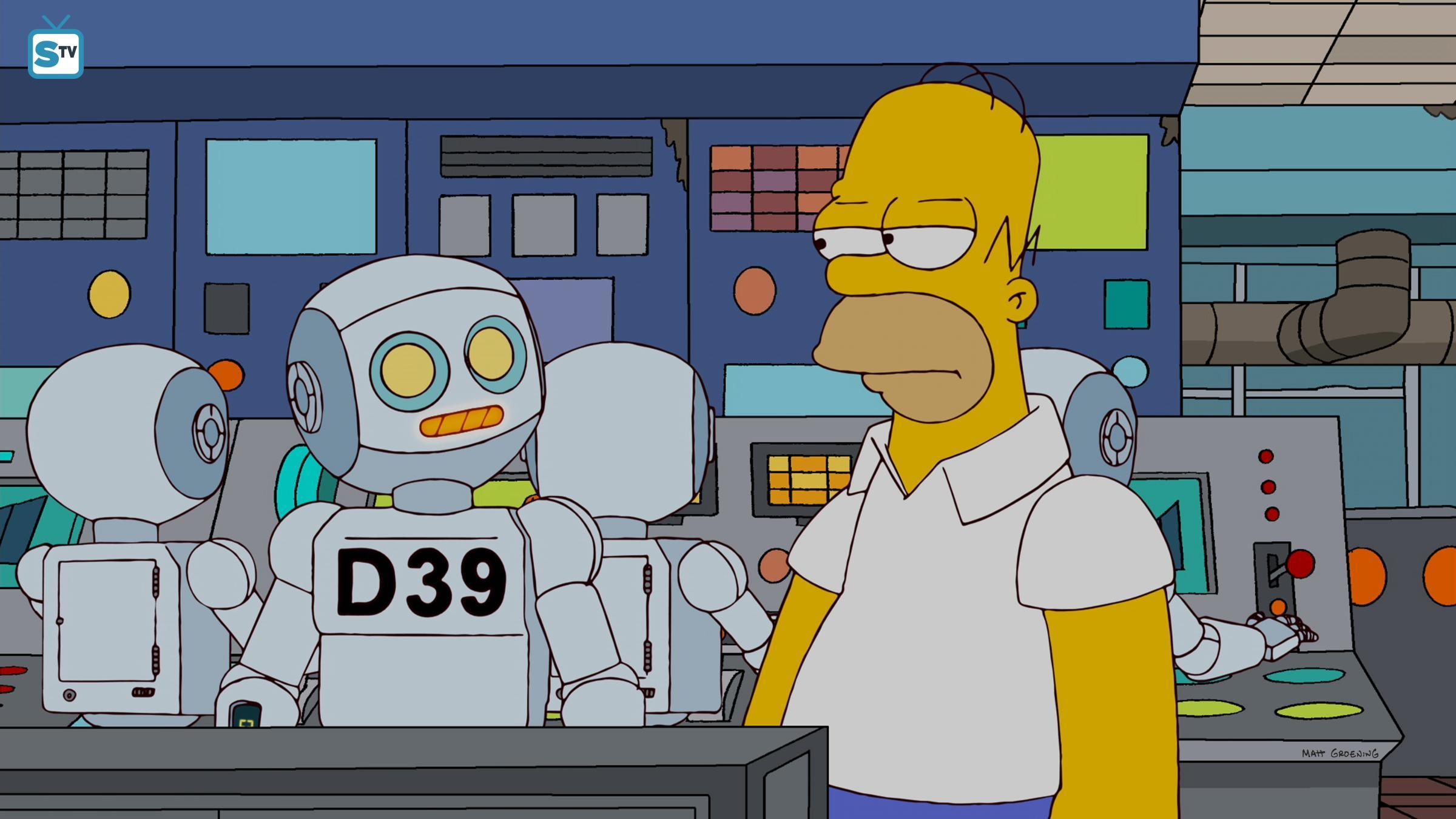 辛普森一家 壁纸 titled 23.17 - them robot