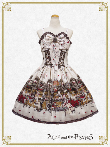 Lolita achtergrond titled AatP Rosy Nights Masquerade Ivory JSK I