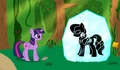 About Blackfeathers-pony in a crystal - chevalnoir photo