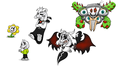 All Forms of Asriel Dreemurr and Flowey the फूल
