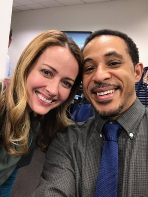 Amy Acker and Dale Godboldo