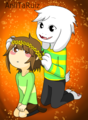 Asriel and Chara cute