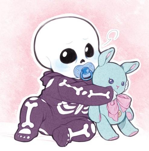 undertale Hintergrund entitled BabyBones!Sans the Skeleton