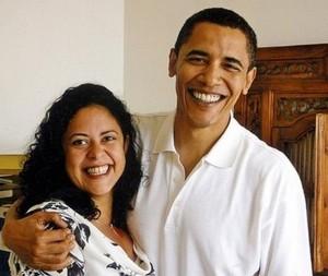Barack And Half-Sister, Maya