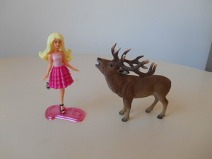 Barbie e il cervo nobile