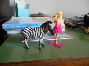 Barbie e la zebra