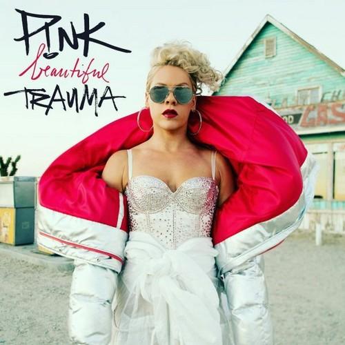 pink karatasi la kupamba ukuta titled Beautiful Trauma Cover