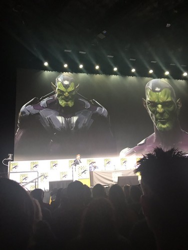 Marvel's Captain Marvel karatasi la kupamba ukuta called Captain Marvel - Concept Art - SDCC 2017