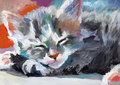 Catnapping - cats fan art