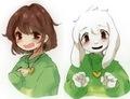 Chara Dreemurr and Asriel Dreemurr