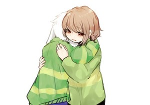 Chara and Asriel Hugging Each Other