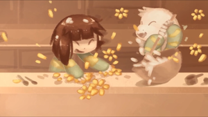Chara and Asriel's Baking Accident
