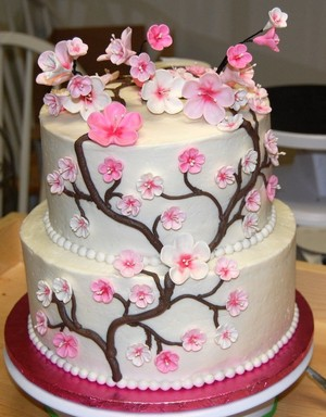 ceri, cherry Blossom Cake