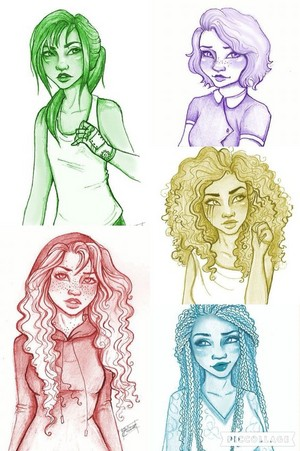 Cinder, Scarlet, Cress, Winter and Iko