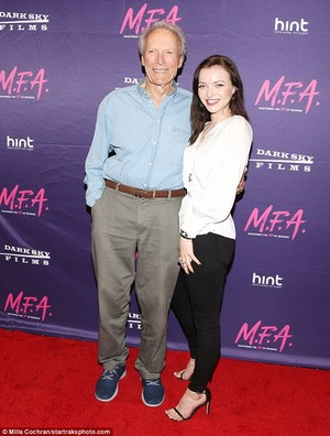 Clint Eastwood and daughter Francesca at premiere of her film M.F.A.