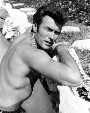 Clint Eastwood (photographed 由 Michael Levin) 1961