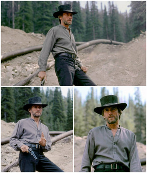Clint On the set of Pale Rider