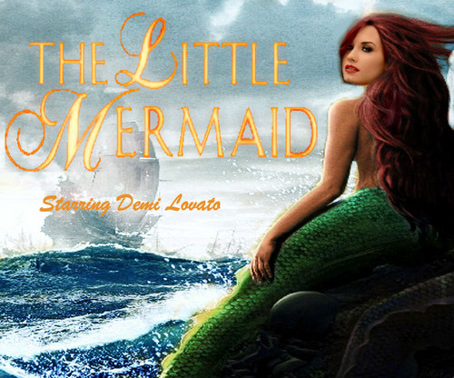 Disney Princess karatasi la kupamba ukuta entitled Demi Lovato as Ariel